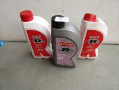 2x Carlube - Bike Ready Mixed Anti-Freeze (1 Litre) - Unused. 1x Carlube - C4 Fully Synthetic 5W/