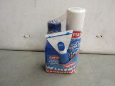 Carplan - Winter Clear Screen Pack - Contains : 1x De-icer 300ml. 1x Screnwash Concentrate 500ml. 1x