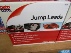 AutoCare - Jump Leads - Maximum Amperage is 90A - Cable Length 2 Metres - Unused & Boxed.