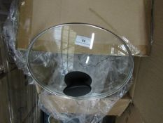 Box Containing Various Sizes Pan Glass Lids - All Unchecked & Boxed.