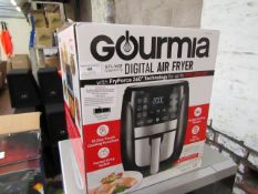 Gourmia 5.7L digital air fryer, tested working for heat but not all functions tested and boxed.