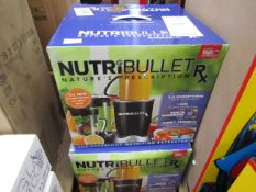 | 2X | NUTRI BULLET RX | UNCHECKED AND BOXED | NO ONLINE RESALE | SKU | RRP £99.99 | TOTAL LOT