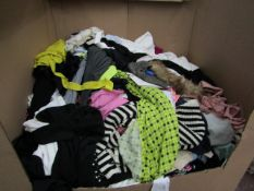 A Pallet of approx 100 various items of clothing being branded and unbranded in a variety of