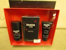 Drakkar Noir Set Inc..Eau De Toilette 100MLS,Hair & Body Gel 50MLS & Deodorant 75MLS,New & Sealed
