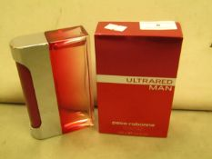 Ultrared Men Paco rabanne Eau De Toilette Spray 100MLS Tester Full & Boxed