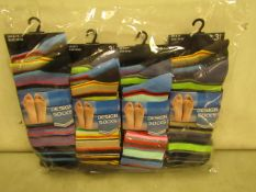 12 X Pairs of Mens Design Socks Size 6-11 New & Packaged