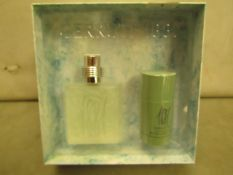 Cerruti 1881 Mens Gift Set Tester Inc.. Eau De Toilette 100MLS 95% Full & Deodorant Stick 75MLS