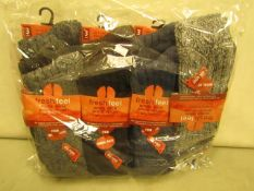 12 X Pairs of Wool Rich Boot Socks Size 11-14 New & Packaged
