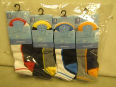 12 X Pairs of Mens Trainer Socks Size 6-11 New & Packaged