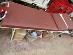 Hospital Obseravition & Treatment Bed - Used Condition, Serveral Minor Rips & Tares.