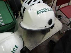 PACIFIC AMBULANCE PROTECTIVE HELMET MEDICAL EMERGENCY PARAMEDIC DOCTOR, Good condtion, RRP £110