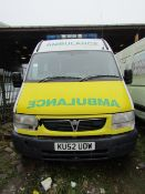 Vauxall Movano DTI 3500 LWB, KU52UOW First reg 05 09 2002, Engine 2463 CC, Revenue weight 3500 KG,