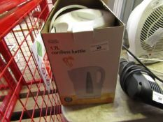 George Home - 1.7L Cordless White Kettle - tested working & Boxed.