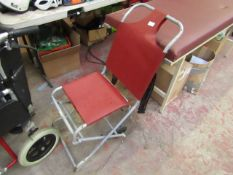 Ferno Compact Carry Evacuation Ambulance Chair (Burgundy) Looks heavily used, RRP £154.00