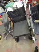 Lightweight Aluminium Drive Wheelchair, Condition used has no foot peddles,RRP £100