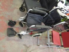 2GO ability Lightweight aluminum Wheelchair,condition used & Foot peddle broke, RRP £75