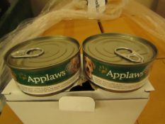 72x Applaws - Dog Tin Chicken, Lamb & Jelly - BB 24/08/20 - Unused & Boxed.