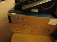 |1X | CUBII ELLIPTICAL UNDER DESK TRAINER | NO ONLINE RESALE | SKU - | RRP £179.99 BOXED - UNCHECKED