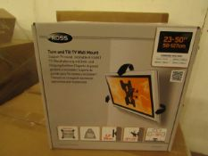 """ROSS - Turn & Tilt TV Wall Mount - 23""""/50"""" - 58-127cm - New & Boxed."""