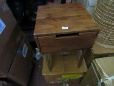   1x   MADE.COM TAYMABEDSIDE TABLE   UNCHECKED AND BOXED   RRP £129  