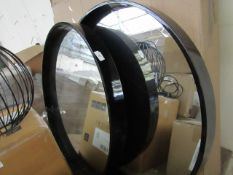 | 2X | MADE.COM BEX LARGE ROUND MIRROR 76CM | HAS MARKS AND SCRATCHES ON BOTH MIRRORS | RRP CIRCA £