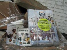 2x Pallets containing over 1000 boxes of Overwatch collectable stickers and over 1000 Overwatch