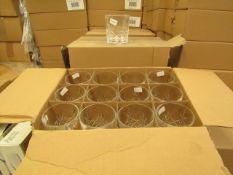 12x Apina Crystaline 300ML Glass Tumblers, New & Boxed
