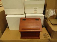 2 x Vintique Wise - Brown Recipe Boxes - New & Boxed.