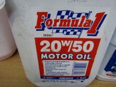 1x Formula1 - 20w/50 Motor Oil - 4.55L - Unused.