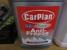 4x Carplan - Red Advance Anti-Freeze & Coolant - 1 Litre - All Unused.