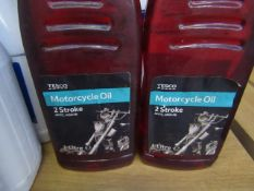 2x Tesco - Motorcycle Oil 2 Stroke - 1 Litres - Unused.