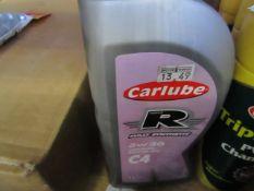 2x Carlube - Bike Ready Mixed Anti-Freeze (1 Litre) - Unused. 1x Carlube - C4 Fully Synthetic 5W/