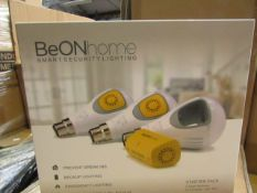 Be Onhome Smarrt Security lighting stater pack, new and boxed