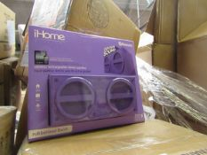 iHome, Wireless Rechargeable Stereo Speaker, New and Boxed