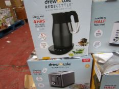 | 1X | DREW AND COLE REDI KETTLE WITH A DREW AND COLE 2 SLICE TOASTER | REFURBISHED AND BOXED | NO