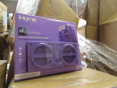 4x iHome, Wireless Rechargeable Stereo Speaker, New and Boxed