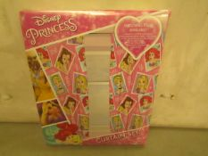 "Disney Princess Curtains 66 X 72 ""168 X 183 CM (No Tie Backs)New in Packaging"