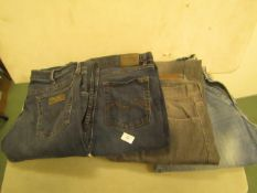 4 X Pairs of Pre Owned Jeans all 40R,