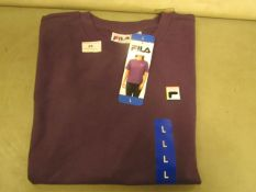 Fila T/Shirt Ladies Size L Gothic Grape Colour New With Tags