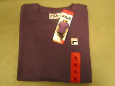 Fila T/Shirt Ladies Size M Gothic Grape Colour New With Tags