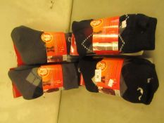 4 X 4.7 TOG Thermal Cozy Socks Size 6-11 All New & Packaged