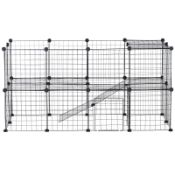 | 1x | PAWHUT SMALL ANIMAL PLAYPEN WITH MALLET, CONNNECTORS & CABLE TIES METAL MESH 36 PC |