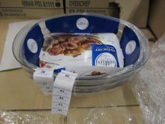 3x Duralex - Oval Roasters - New & Packaged.