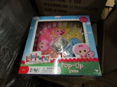 2x Lalaloopsy - Pop up Games - New & Packaged.