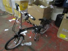 Orus 001 foldable bike with carry bag, unused but may have very minor marks, RRP Circa £300