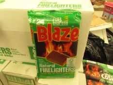 8x Packs of Blaze - Fuel Express Natural Fire Lighters (24 Small Cubes Per Pack) - RRP £1.50 per