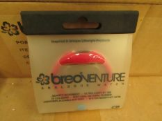 50 x Breo - Venture Red Quartz Movement Analogue Watches - unused & packaged