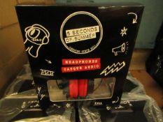 2x 5 Seconds of Summer Headphones - New & Boxed.