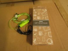 5x Avon - Gift Bouique - Green LED EarBuds - New & Boxed. RRP £15 Each.
