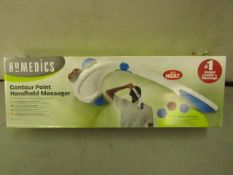 Homedics - Contour Point Handheld Massager - Unused & Boxed.